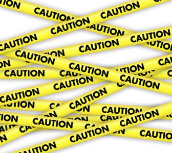 Banderole caution