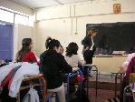une salle de cours en Grèce